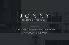Jonny - Minimal Portfolio template
