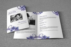 Funeral Program Template-V388