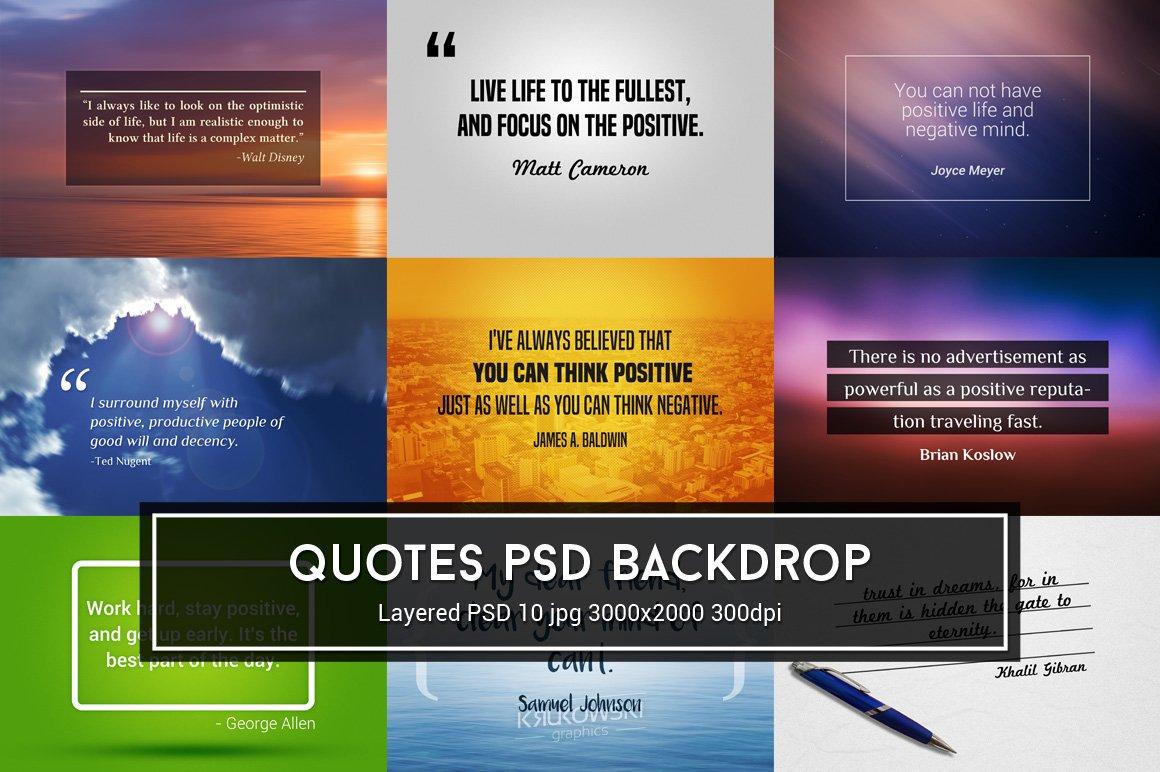 Quotes Psd Backdrop Textures Creative Market