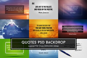 Quotes PSD Backdrop