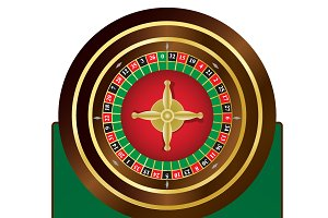 Roulette, wheel, table