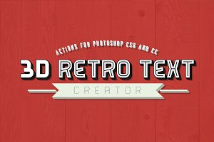 3D Retro Text Creator