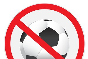 No, soccer, football, sign