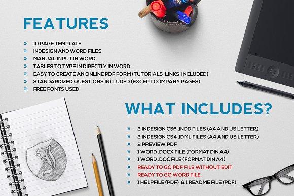 logo design questionnaire stationery templates creative market