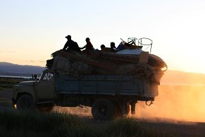 Moving to a new place. Mongolia