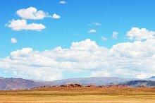 Mountain range. Mongolian panorama