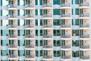 Pattern of balconies and windows