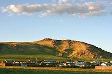 Mongolian village view