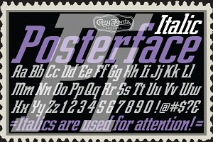 Posterface Italic