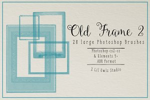 Old Frame Photoshop Brushes set 2