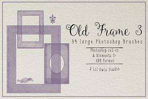 Old Frame Photoshop Brushes set 3