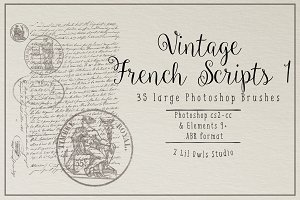 French Script Photoshop Brushes