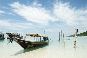 Koh phangan boat beach thailand