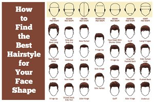 A set of mens hairstyles
