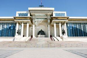 Mongoloian Parliament building