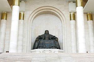 Genghis Khan statue. Ulan Bator