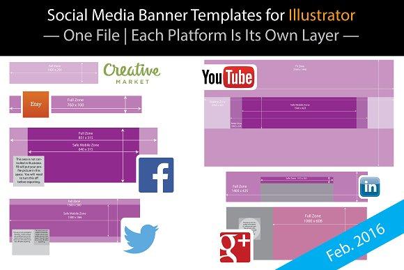 Blank Social Banner Templates for AI ~ Website Templates ~ Creative ...