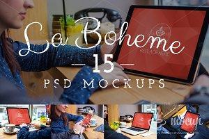 15 PSD Mocup Bundle La Boheme