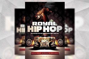 Royal Hip Hop - Flyer Template
