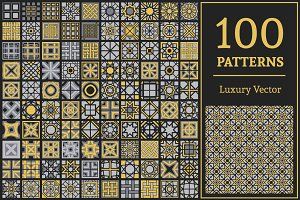 100 Vector Geometric Patterns