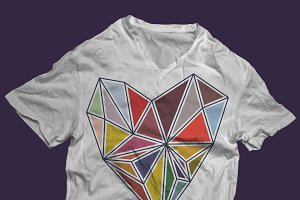 Colorful geometrical heart