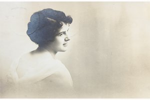 vintage woman portrait