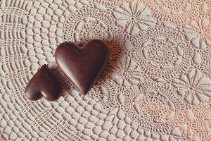Sweet Hearts on Vintage Table