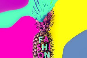 Fashion Art Pineapple