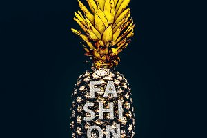 Fashion gold Pineapple