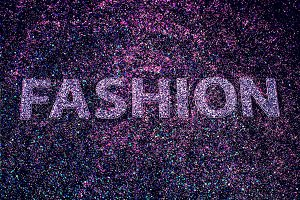 Glam letters Fashion