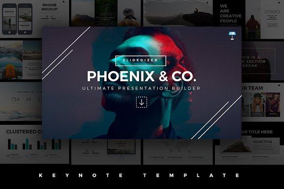 Phoenix Minimal Keynote Template Presentation Templates Creative - Keynote animation templates