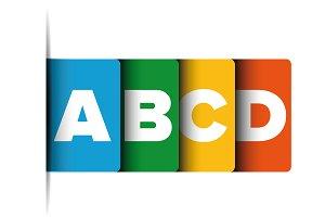 A B C D progress bar