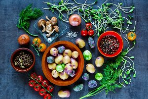Tasty vegetables background