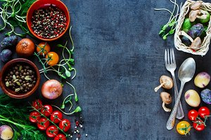 Tasty vegetables background
