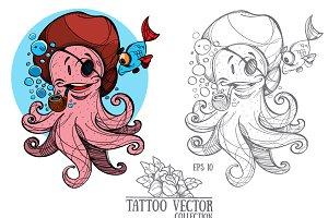 Cheerful octopus
