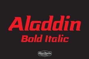 Aladdin Bold Italic