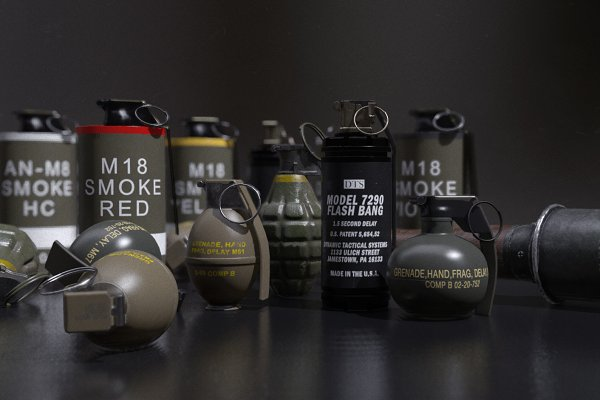 3D Weapons - Assorted Grenade Pack 01