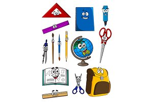 Happy school education objects