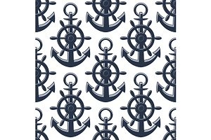 Anchors and helms seamless pattern