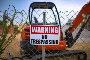 No Trespassing Construction Site