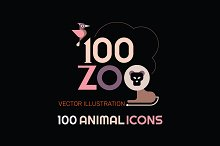 100+ Zoo Animal Icon Set