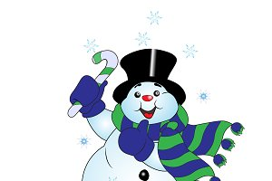 Snowman, greeting