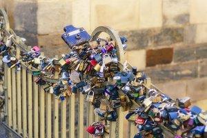 Love Locks on Fence