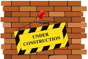 Under, construction, sign
