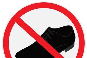 No, shoes, sign