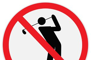 Golf, player, prohibition, sign