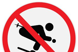 No skiing sign