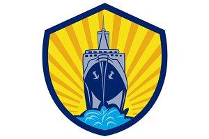 Passenger Ship Cargo Boat Crest