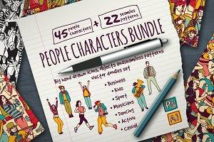 Big vector people bundle