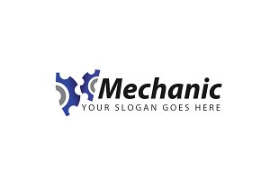 Mechanical Gear Logo Template